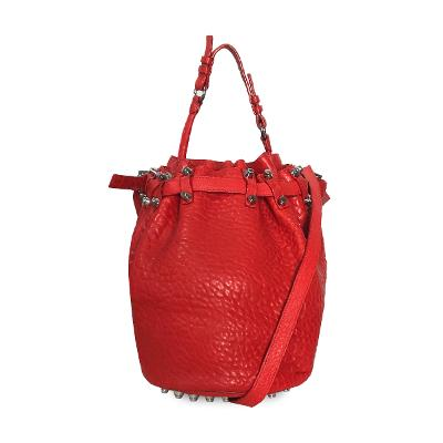 diego bucket bag red